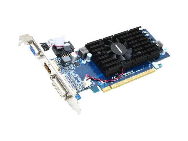 GIGABYTE Radeon HD 5450 (Cedar) DirectX 11 GV-R545OC-512I Video Card