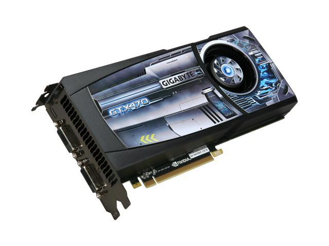 GIGABYTE GeForce GTX 470 (Fermi) DirectX 11 GV-N470D5-13I-B Video Card