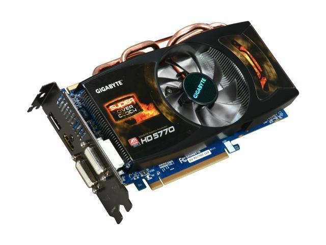 GIGABYTE Radeon HD 5770 DirectX 11 GV-R577SO-1GD 1GB 128-Bit GDDR5 PCI Express 2.1 x16 HDCP Ready CrossFireX Support Video Card