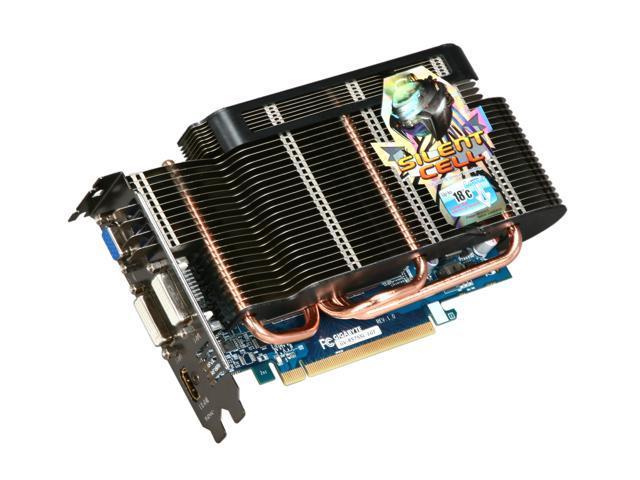 GIGABYTE Silent Series Radeon HD 5750 DirectX 11 GV-R575SL-1GI 1GB 128-Bit GDDR5 PCI Express 2.1 x16 HDCP Ready CrossFireX Support Video Card