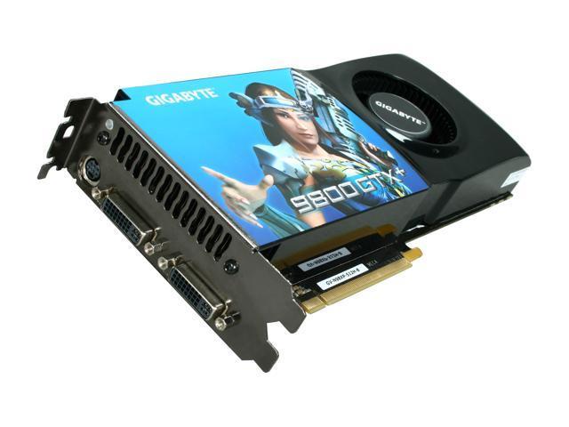 GIGABYTE GeForce 9800 GTX+ DirectX 10 GV-N98XP512H-B 512MB 256-Bit GDDR3 PCI Express 2.0 x16 HDCP Ready SLI Support Video Card