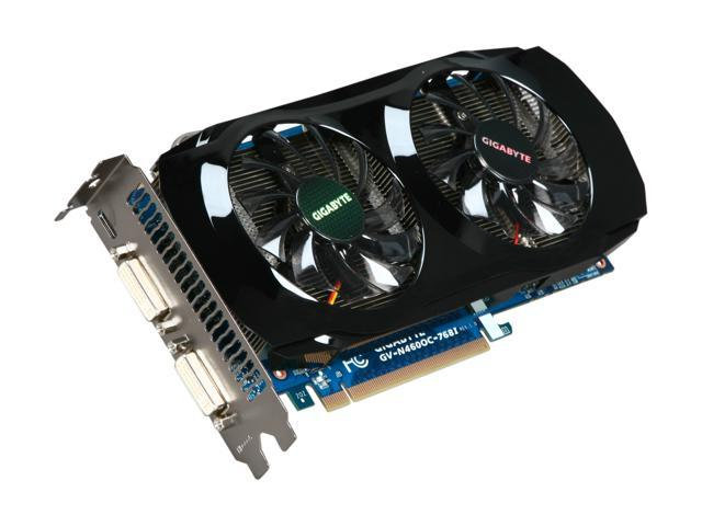 GIGABYTE GeForce GTX 460 (Fermi) DirectX 11 GV-N460OC-768I Video Card