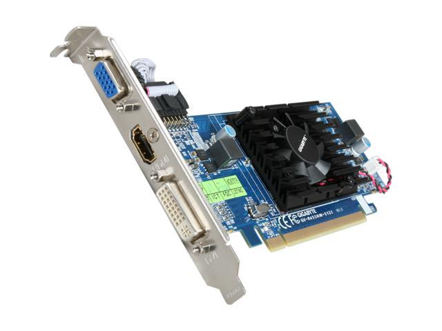 GIGABYTE GV-R455HM-512I Radeon HD 4550 Supporting up to 512MB(128MB 64-bit GDDR3 onboard) PCI Express 2.0 x16 HDCP Ready  Low Profile Ready Video Card