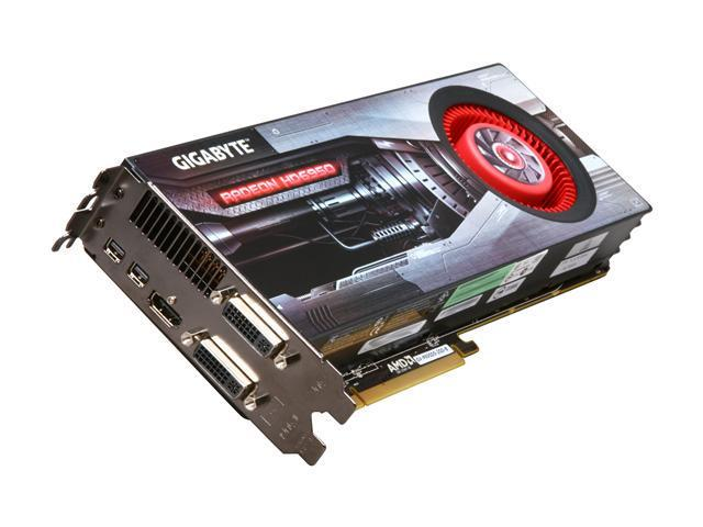 GIGABYTE Radeon HD 6950 DirectX 11 GV-R695D5-2GD-B Video Card with Eyefinity