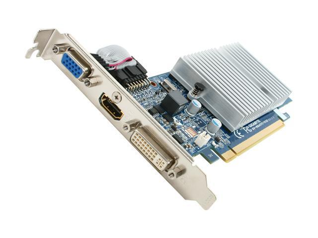 GIGABYTE GeForce 8400 GS DirectX 10.1 GV-N84STC-512I Rev2.0 Supporting up to 512MB(128MB onboard) 64-Bit GDDR3 PCI Express 2.0 x16 HDCP Ready Low Profile Ready Video Card