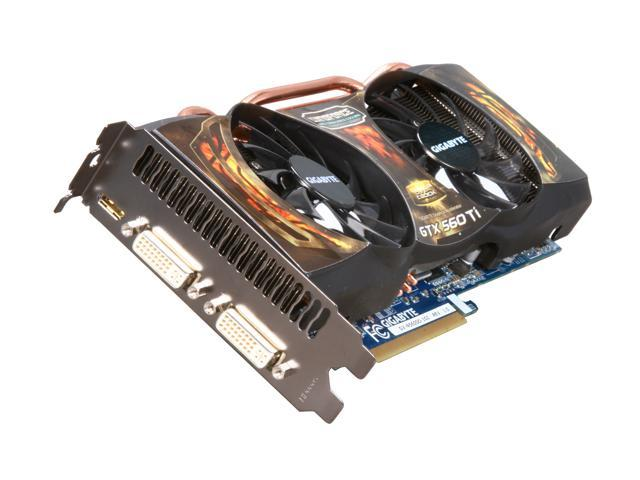 GIGABYTE Super Overclock Series GeForce GTX 560 Ti (Fermi) DirectX 11 GV-N560SO-1GI 1GB 256-Bit GDDR5 PCI Express 2.0 x16 HDCP Ready SLI Support Video Card
