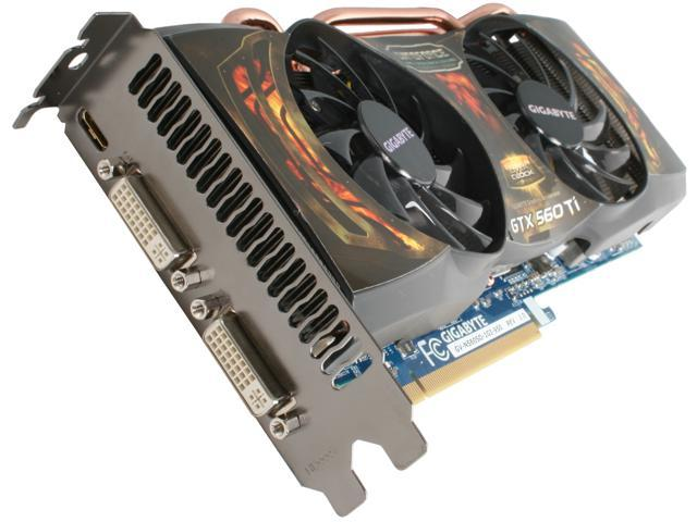 GIGABYTE Super Overclock Series GeForce GTX 560 Ti (Fermi) DirectX 11 GV-N560SO-1GI-950 Video Card