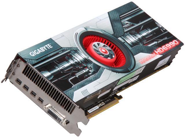 GIGABYTE Radeon HD 6990 DirectX 11 GV-R699D5-4GD-B 4GB 256-Bit GDDR5 PCI Express 2.1 x16 HDCP Ready Video Card with Eyefinity