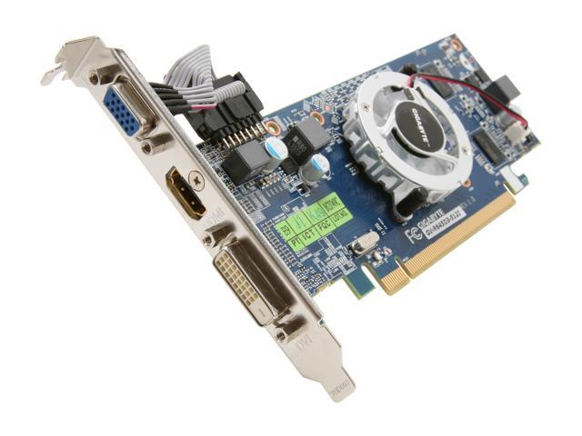 GIGABYTE Radeon HD 6450 DirectX 11 GV-R645D3-512I Video Card
