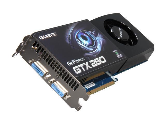 GIGABYTE GeForce GTX 260 DirectX 10 GV-N26UD-896M Video Card