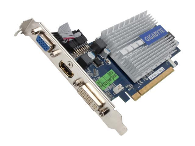 GIGABYTE Radeon HD 5450 DirectX 11 GV-R545SL-1GI 1GB 64-Bit DDR3 PCI Express 2.1 x16 HDCP Ready Low Profile Video Card