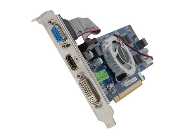 GIGABYTE Radeon HD 5450 DirectX 11 GV-R545-1GI 1GB 64-Bit DDR3 PCI Express 2.1 x16 HDCP Ready Low Profile Video Card