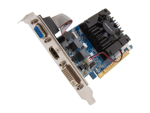 GIGABYTE GeForce 210 DirectX 10.1 GV-N210D3-1GI Rev3.0 Video Card