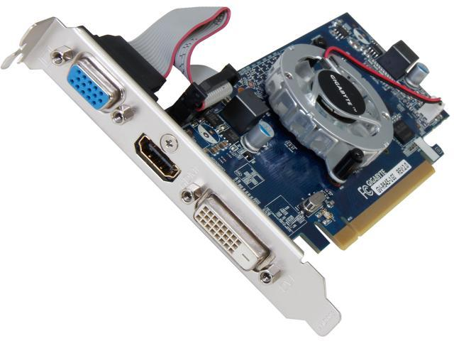 GIGABYTE Radeon HD 6450 GV-R645-1GI REV2.0 1GB 64-Bit DDR3 PCI Express 2.1 HDCP Ready Low Profile Ready Video Card