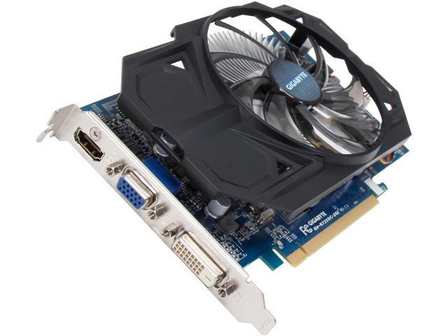 GIGABYTE Radeon R7 250 DirectX 11.1 GV-R725OC-2GI REV2.0 2GB 128-Bit DDR3 PCI Express 3.0 HDCP Ready Video Card