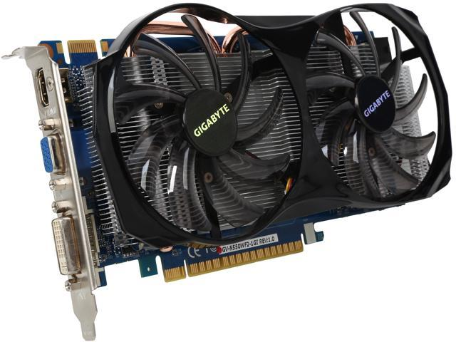 GIGABYTE GeForce GTX 550 Ti (Fermi) DirectX 11 GV-N550WF2-1GI Video Card