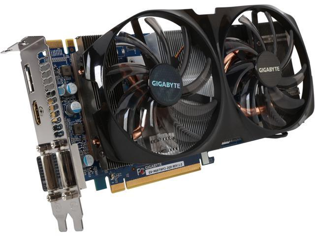 GIGABYTE GeForce GTX 660 Ti DirectX 11 GV-N66TWF2-2GD Video Card