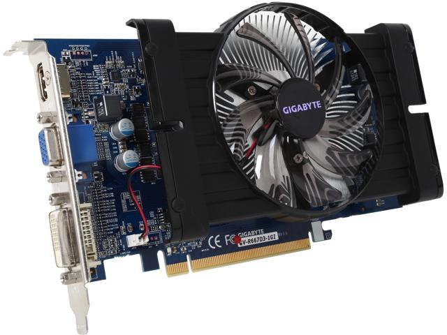 GIGABYTE Radeon HD 6670 DirectX 11 GV-R667D3-1GI Video Card