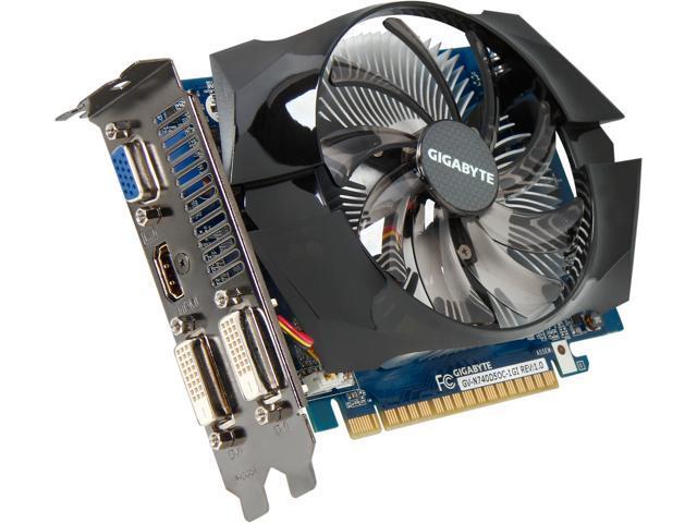 GIGABYTE GeForce GT 740 GV-N740D5OC-1GI 1GB 128-Bit GDDR5 PCI Express 3.0 HDCP Ready Video Card