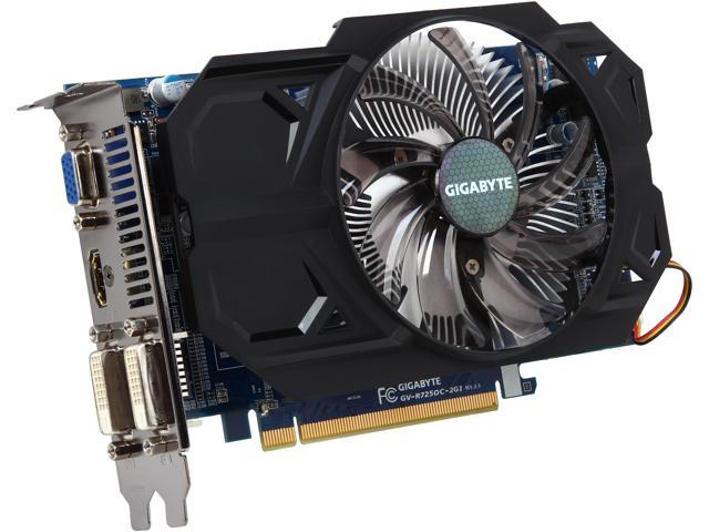 GIGABYTE Radeon R7 250 DirectX 11.1 GV-R725OC-2GI REV3.0 2GB 128-Bit DDR3 PCI Express 3.0 HDCP Ready Video Card