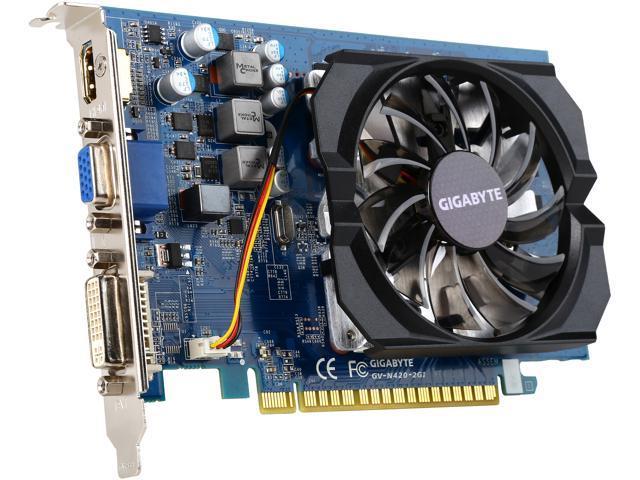 gigabyte geforce gt 420 directx 12 gv n420 2gi rev 3 0
