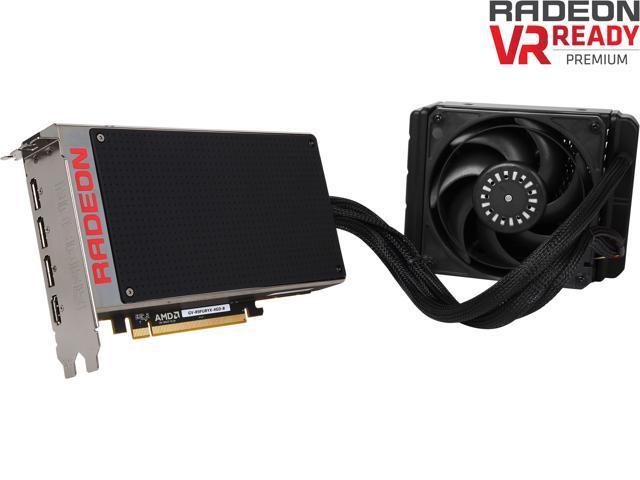 GIGABYTE Radeon R9 Fury X DirectX 12 GV-R9FURYX-4GD-B 1.0 4GB HBM PCI Express 3.0 x16 ATX Video Card