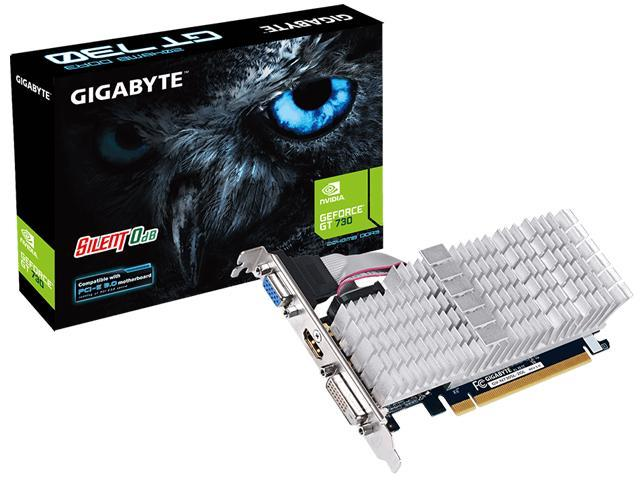 Gigabyte GV-N730SL-2GL GeForce GT 730 Graphic Card - 902 MHz Core - 2 GB DDR3 SDRAM - PCI Express 2.0 x8 - Low-profile