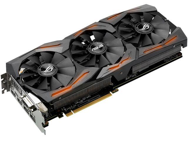ASUS ROG Radeon RX 480 STRIX-RX480-8G-GAMING 8GB 256-Bit GDDR5 PCI Express 3.0 HDCP Ready Video Card