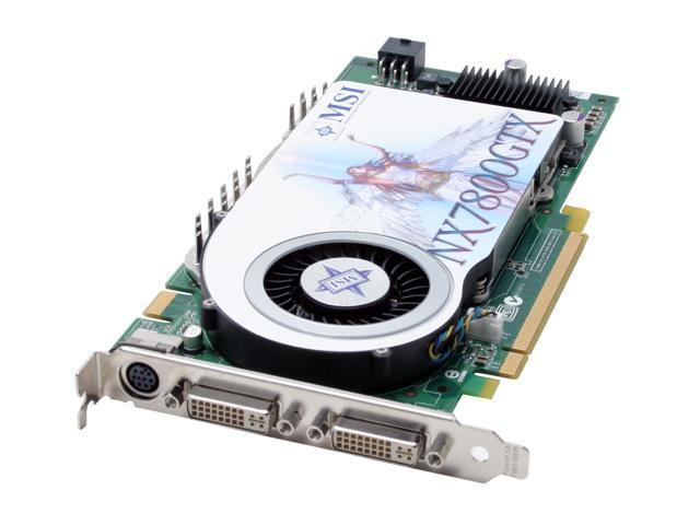 MSI GeForce 7800GTX DirectX 9 NX7800GTX-VT2D256E Video Card