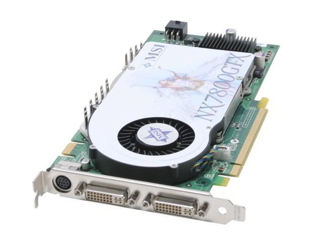 MSI GeForce 7800GTX DirectX 9 NX7800GTX-VT2D256E (Lite) 256MB 256-Bit GDDR3 PCI Express x16 SLI Support Video Card White Box
