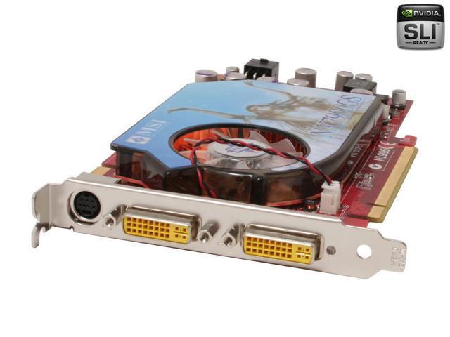 MSI GeForce 7900GS DirectX 9 NX7900GS-T2D256E-HD Video Card