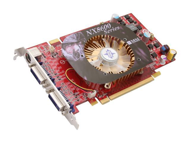 MSI GeForce 8600 GT DirectX 10 NX8600GT-T2D256E OC 256MB 128-Bit GDDR3 PCI Express x16 SLI Support Video Card