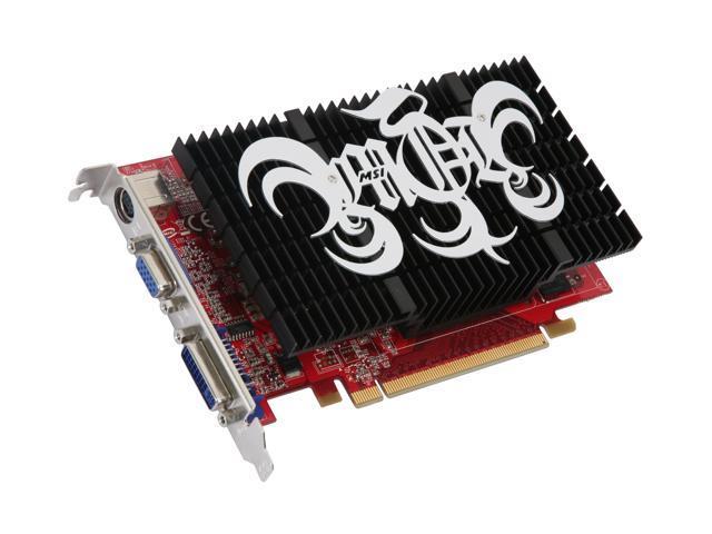 MSI GeForce 8500 GT DirectX 10 NX8500GT-TD256EH 256MB 128-Bit GDDR2 PCI Express x16 SLI Support Silent Heatsink Video Card