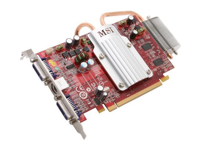 MSI Radeon HD 2600PRO DirectX 10 RX2600Pro-T2D256EZ/D2 Silent Heatpipe Video Card