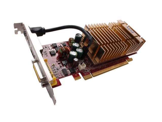 MSI GeForce 8500 GT DirectX 10 NX8500GT-MTD256EH 256MB 128-Bit GDDR2 PCI Express x16 HDCP Ready Silent Heatsink Video Card
