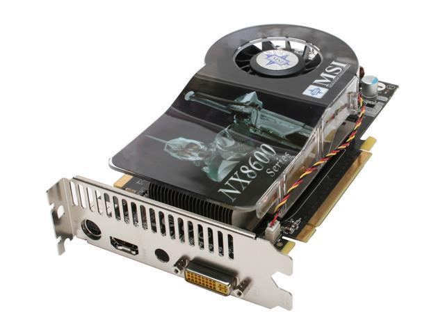 MSI GeForce 8600 GTS DirectX 10 NX8600GTS Diamond Plus 256MB 128-Bit GDDR3 PCI Express x16 HDCP Ready SLI Support Video Card