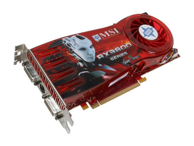 MSI Radeon HD 3870 DirectX 10.1 RX3870-T2D512E OC Video Card