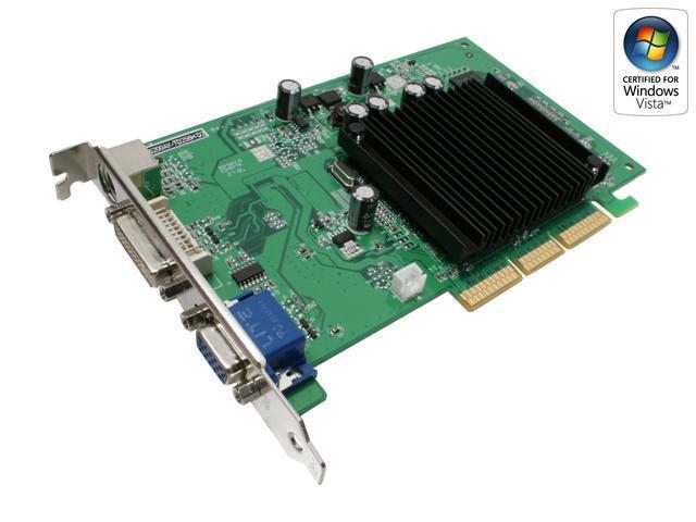 MSI GeForce 6200 DirectX 9 NX6200AX-TD256H D2 256MB 64-Bit GDDR2 AGP 8X Video Card