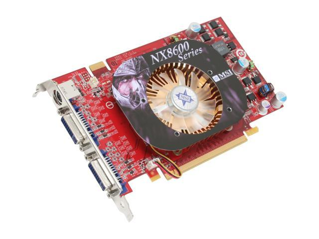 MSI GeForce 8600 GT DirectX 10 NX8600GT-T2D512E OC Video Card