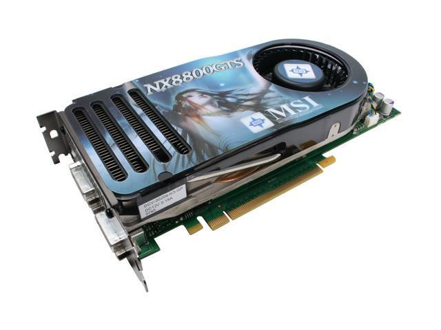 MSI GeForce 8800 GTS DirectX 10 NX8800GTS 640M OC Video Card