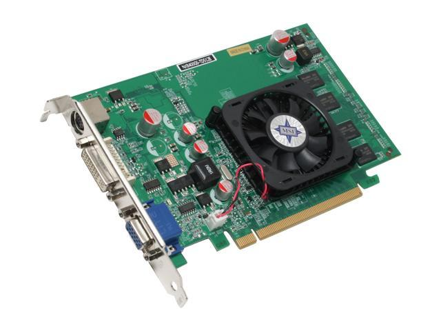 MSI GeForce 8400 GS DirectX 10 NX8400GS-TD512E Video Card