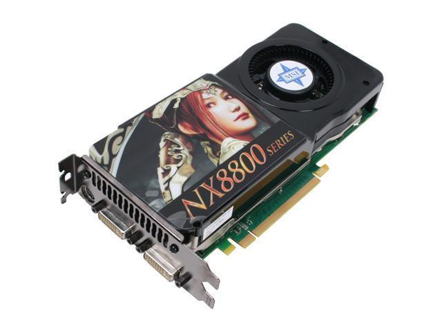 MSI GeForce 8800GTS (G92) DirectX 10 NX8800GTS-T2D512E Video Card