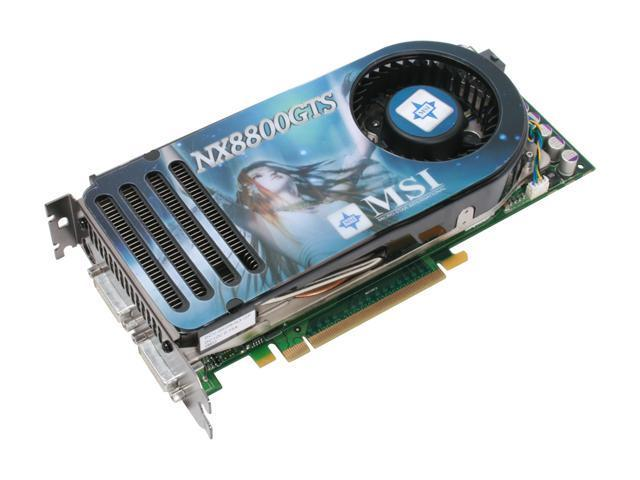 MSI GeForce 8800 GTS DirectX 10 NX8800GTS-T2D320E-HD-OC 320MB 320-Bit GDDR3 PCI Express x16 HDCP Ready SLI Support Video Card