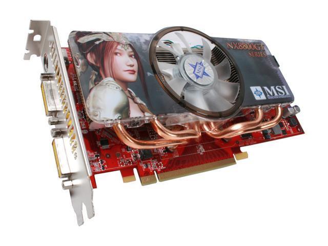 MSI GeForce 8800 GT DirectX 10 NX8800GT 512M OC Video Card
