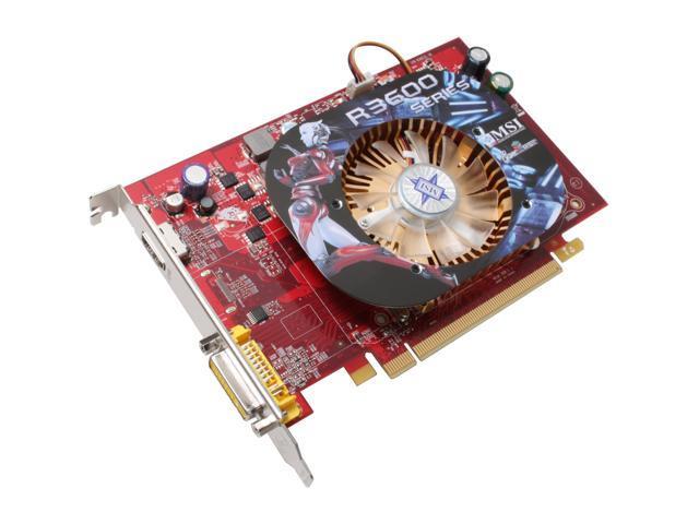 MSI Radeon HD 3650 DirectX 10.1 R3650-MD512 OC Video Card