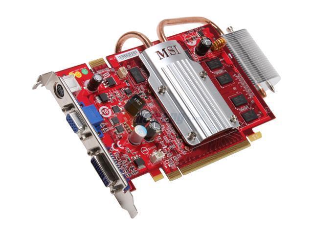 MSI GeForce 8600 GT NX8600GT-TD1GEZ 1GB 128-Bit GDDR2 PCI Express x16 HDCP Ready SLI Support Video Card