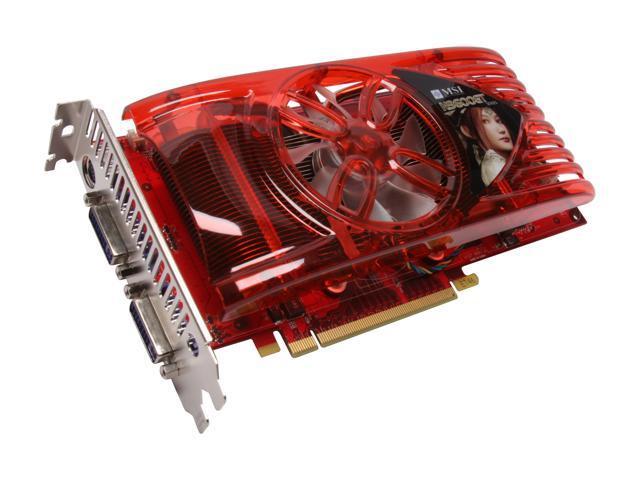 MSI GeForce 9600 GT DirectX 10 N9600GT-T2D512E 512MB 256-Bit GDDR3 PCI Express 2.0 x16 HDCP Ready SLI Support Video Card