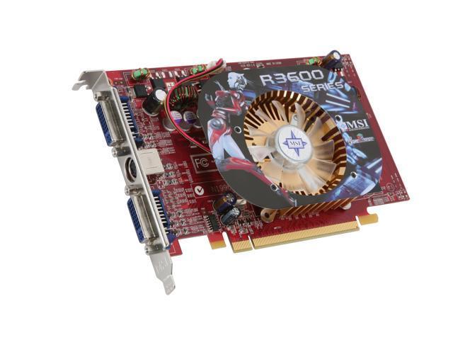 MSI Radeon HD 3650 DirectX 10.1 R3650-T2D512-OC/D2 Video Card