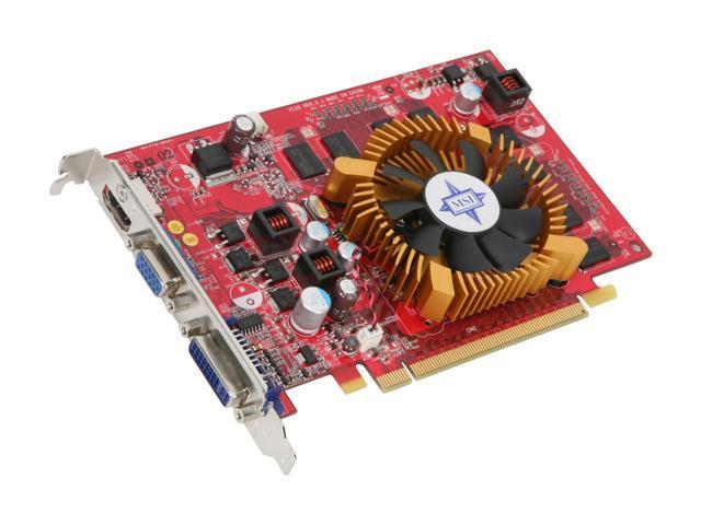 MSI GeForce 9400 GT DirectX 10 N9400GT-MD512 512MB 128-Bit GDDR2 PCI Express 2.0 x16 HDCP Ready Video Card