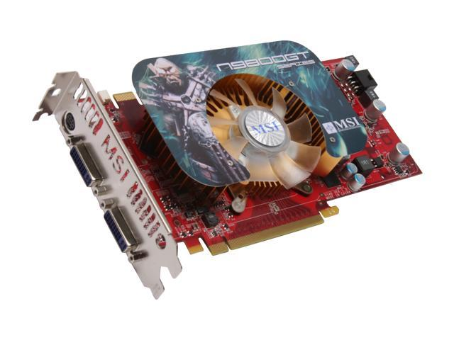 MSI GeForce 9800 GT DirectX 10 N9800GT-T2D512-OC 512MB 256-Bit GDDR3 PCI Express 2.0 x16 HDCP Ready SLI Support Video Card